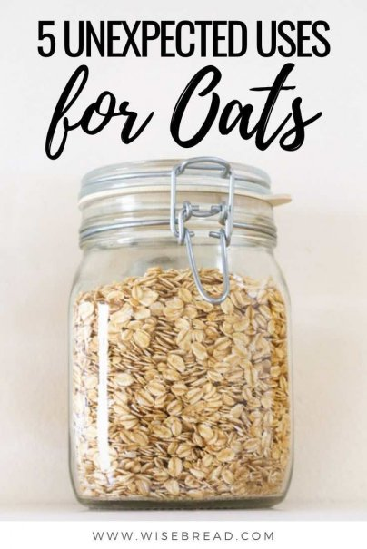 Got an abundance of oats? We've found 5 unexpected ways to use oats in your home! | #oats #thriftyfood #frugalfood