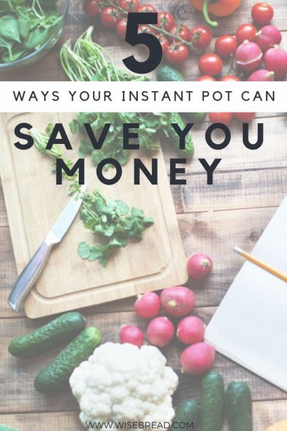 The instant pot is the ultimate frugal living item, you can make so many delicious recipes, like chicken or beef stew, vegetables soup, chilli, pasta and more. See how you pot can save you time and money! You will be wanting to cook dinner for you family with it every night! | #frugalliving #thriftyfood #instantpot