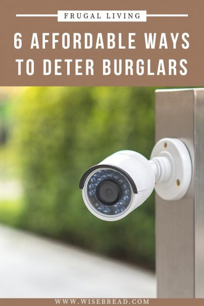 Installing a home security system, however, can cost a few hundred dollars (along with $15 to $100 for monthly monitoring). So here are six cheaper alternatives! | #homesecurity #lifehacks #securitytips