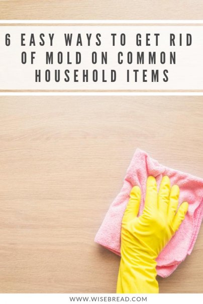 Looking for easy ways to get rid of old? Whether it is in the bathroom shower, on fabric, in your basement, kitchen tools, on wood, walls, ceiling or carpet, we've got some great DIY hacks like Vinegar, tea tree oil, bleach and baking soda, or store favourites! | #moldremover #cleaninghacks #DIY