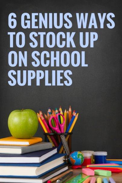 6 Genius Ways to Stock Up on School Supplies