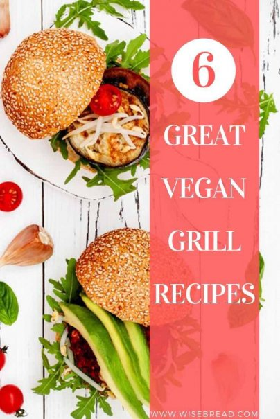Want some vegan grill recipes? We've got some great vegan options for you, from eggplant and pesto burgers, to grilled veggie pizza, grilled tofu and more. | #thriftyfood #vegan #veganmeals