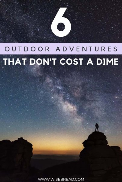 Spring brings the perfect weather for experiencing the great outdoors. Fortunately, many of the greatest outdoor activities and adventures can be had for free. Here are six of our favorites! | #freeactivities #cheapactivities #frugalfun