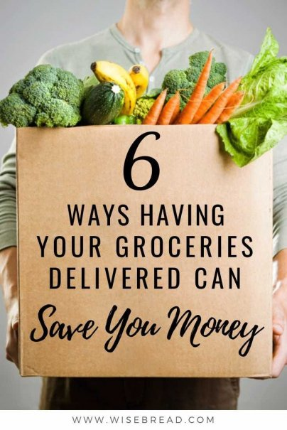 Want to save money and improve your budget? Having your groceries delivered can be a frugal way to do your shopping. Check out our tips on why! | #frugalfood #groceries #shoppingtips