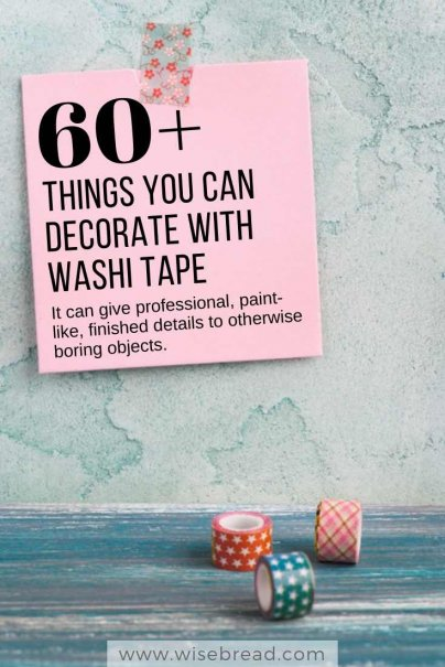 60+ Things You Can Decorate With Washi Tape