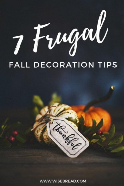 With fall in full swing, here are some simple frugal fall decor tips to try! #frugal #fall #autumn