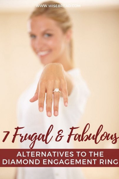 If you're considering doing something non-traditional for your engagement ring, there are many ways to personalize your engagement and make it stand out from others. Here are some frugal ideas for you. | #engagement #engagementring #frugaltips