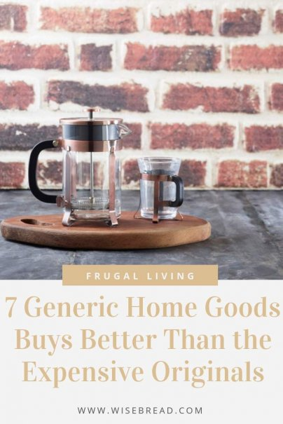 Want a more frugal and budget friendly home? Keeping your home tidy, beautiful and healthy doesn't have to be expensive. These are cheap home goods that are better than their original brand name competitors! | #homegoods #savemoney #frugalliving