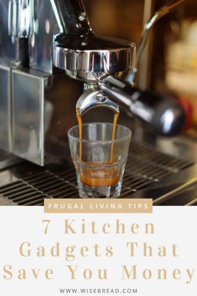 Want to save money on food? Here are seven kitchen gadgets that can save you big but you might not have thought of. | #savingmoney #frugaltips #househacks