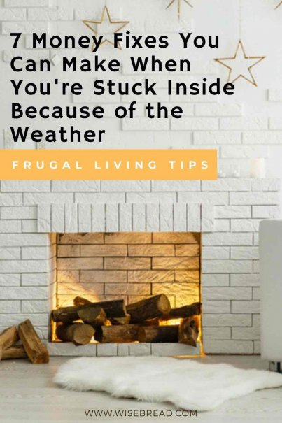 Crazy winter weather have you stuck indoors? Take advantage of your lazy snow days around the house by digging deep into your finances to make a few tweaks. | #winter #budgeting #financetips
