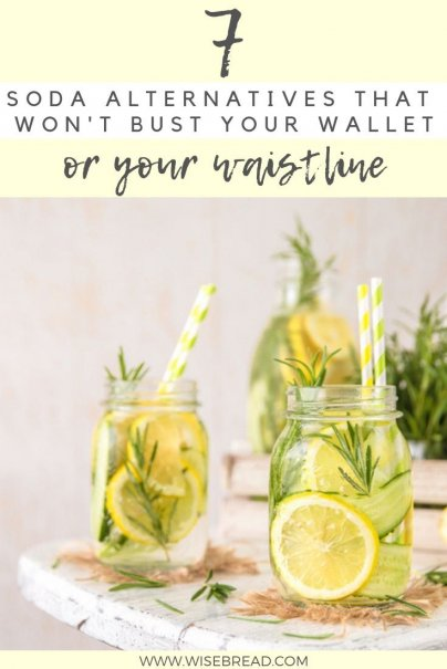 Wan't some soda ideas that won't break your budget, and are healthy alternatives? We've got 7 options for you, from homemade DIY recipes, to drink products you can purchase. Check out our tips on how to make these delicious thirst quenchers! | #sodarecipe #healthydrinks #frugalliving