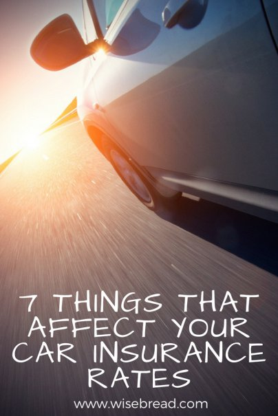 7 Things That Affect Your Car Insurance Rates