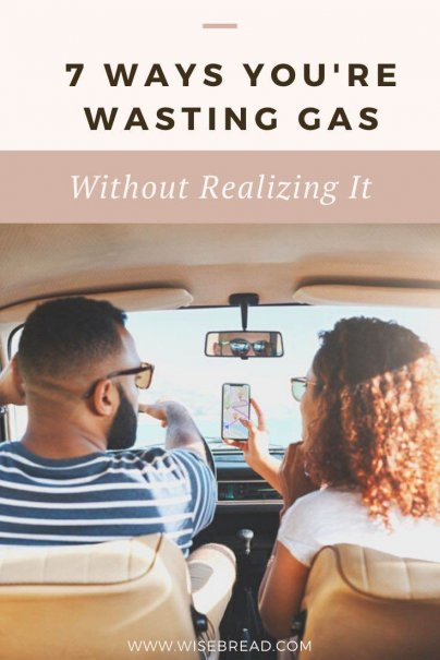 If you'd like to save some cash on gas, it might be time to change the way you drive. Go from a slurper to a sipper by avoiding these seven fuel-wasting habits and save money. | #moneysaving #frugalliving #frugal