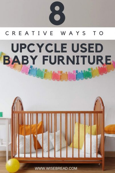 Your baby has grown up? It can be difficult selling your used baby furniture on the secondhand market, thats why we've come up with 8 creative DIY ways to upcycled those items. From turning that crib mattress into outdoor seating, or transforming the sides to make a magazine rack, there are lots of frugal fab ideas! | #frugalliving #DIY #homedecor