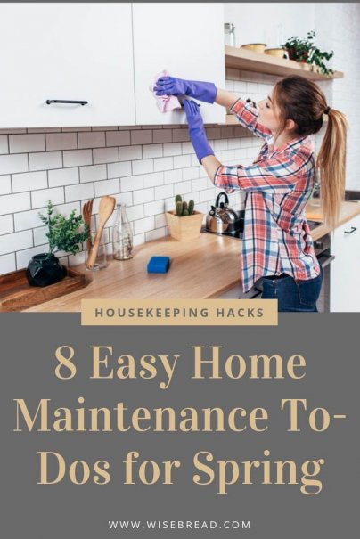 The spring season is the perfect time to do some cleaning and home maintenance. So read through our tips for what things you need to add to your to do list! | #springcleaning #spring #lifehacks