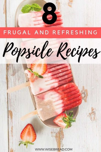 To make your own popsicles, you can use juice, fresh fruit, pudding, yogurt, cream, and even alcohol. Check out these frugal, budget friendly, delicious popsicles! | #popsicles #thriftyfood #iceblocks