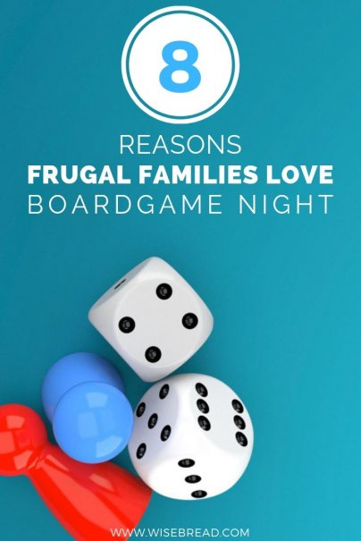 A Boardgames night can be a fun and frugal way to spend a night with the family.  Here are eight reasons why you should pick up boardgaming as a family activity, too. | #gamesnight #boardgames #frugalfun