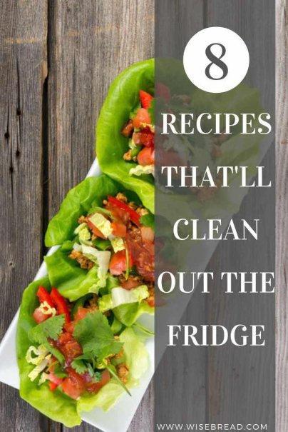 Got nothing to eat in the fridge? Get into frugal mode instead of hitting the grocery store, and whip up these delicious and easy dishes with your leftovers! These are the 8 recipes that'll clean out your fridge. | #leftovers #frugalfood #savemoney