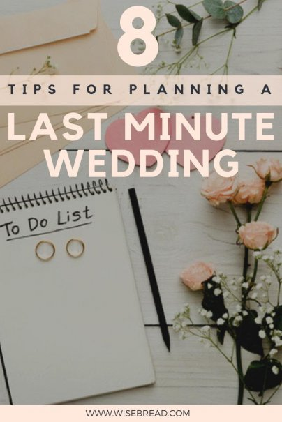 Need some last minute wedding planning tips? We've got the ideas to help you organise you wedding fast, from planning a checklist, to invitation creation, ceremony location, decorations and more, your guide will show you how to throw an amazing wedding, even if its last minute! | #weddingplanning #weddinghacks #weddingtips