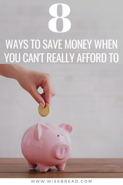 Saving money is crucial if you want to have cash for emergencies, or actually retire one day, you have to try — even when you can't really afford to. We've got the tips to help you save money even when times are tough. | #financetips #savemoney #moneysaving