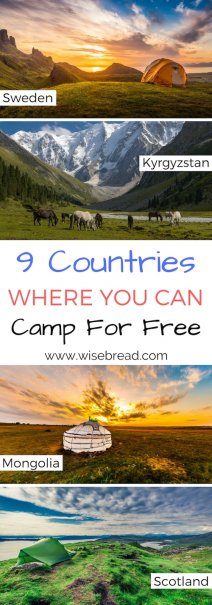 9 Countries Where You Don't Need a Campsite to Camp for Free