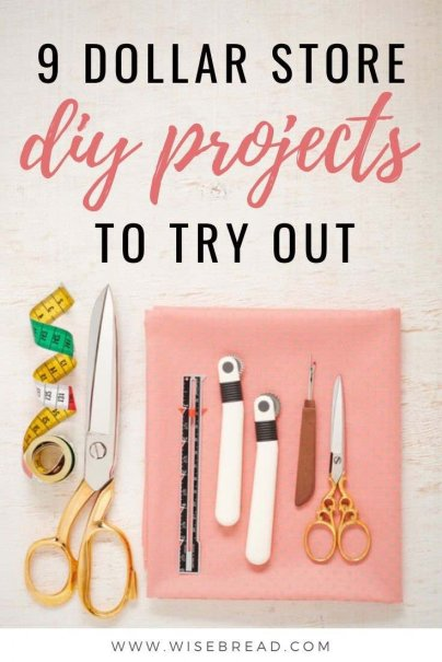 Want some cheap, dollar store projects? We've got some seriously frugal DIY projects for you to try out! | #DIY #frugal #dollarstore