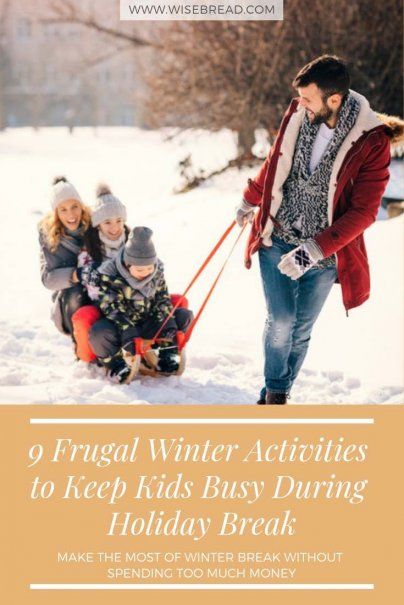 Want to keep your kids engaged with something other than electronics this winter break, but you also want to do it on a budget. Here are a few ideas to make the most of winter break without spending too much money.  | #Frugalliving #winteractivities #familytime