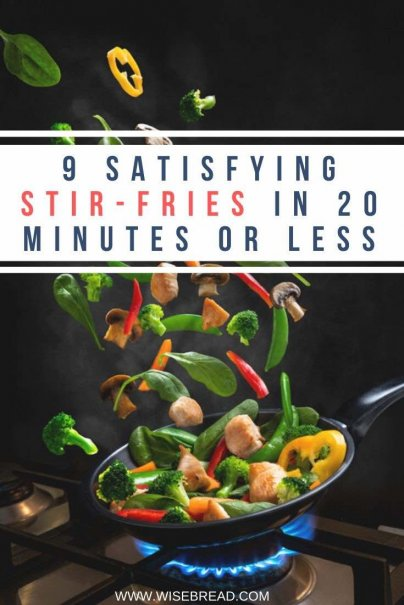 One of the fastest, cheapest meals I make on a regular basis is the stir-fry. Check out these 10 fantastic stir-fries that you can do under 20 minutes. | #stirfries #stirfry #quickfood