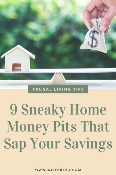 Is your house starting to cost you big dollars? There are so many expenses associated with paying the bills for a home that it is easy to miss money leaks. Putting a plug into these leaks can make a big difference in your budget. From old-school thermostats to faulty plumbing, check your home for some of these top money pits! | #moneypit #frugalliving #hometips #housekeepinghacks