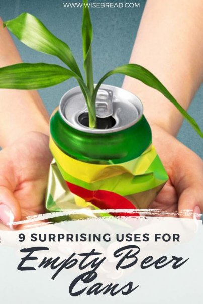 If you enjoy a can or two of beer or soda, you may want to think twice before throwing your empties into the trash or recycling bin. The humble aluminum can has a multitude of uses, and can save you money on the most surprising things. Here are our best DIY tips and ideas! | #frugalliving #upcycling #recycling