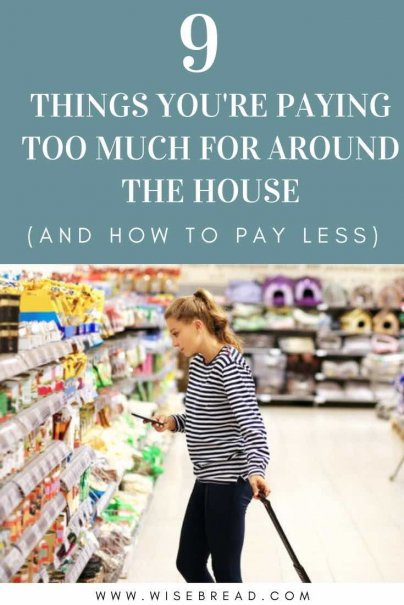 Want to trim your monthly budget and save money? There are things in your home that you shouldn't be spending extra cash on. These are the 9 things to spend less on to help your personal finances! | #savemoney #moneytips #moneysaving