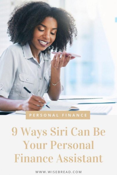 Did you know that you can use Siri as you personal finance assistant? Siri can help you stay on track with you finances, and make your smarter about your money without a lot of work. These are the financial tasks that Siri and similar apps can help you with. | #smartphone #siri #siritips