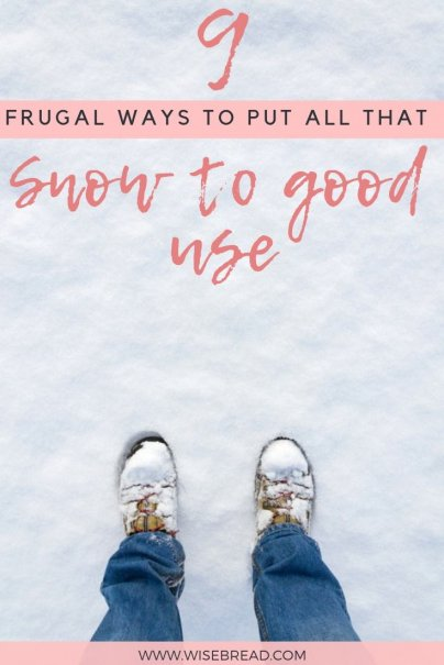 Stuck inside for the winter and wondering how you can put all that snow to good use! We've got some frugal and DIY ways you can use snow, from making adult snow cones, to using it as a fridge, or cleaning your winter wear, we've got 9 ways you can get creative too! | #snow #DIY #frugalliving