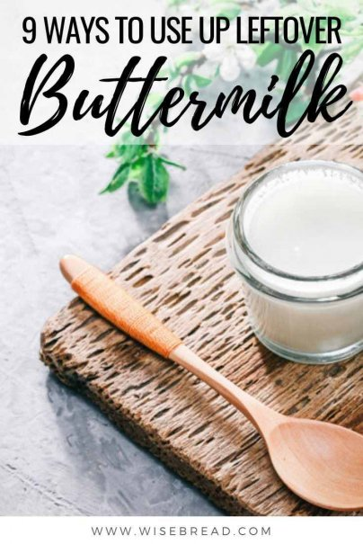 Got some leftover buttermilk? Here are nine delicious ways to use it up so you don't need to waste it! | #buttermilk #leftovers #reducewaste