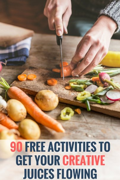 90 Free Activities to Get Your Creative Juices Flowing