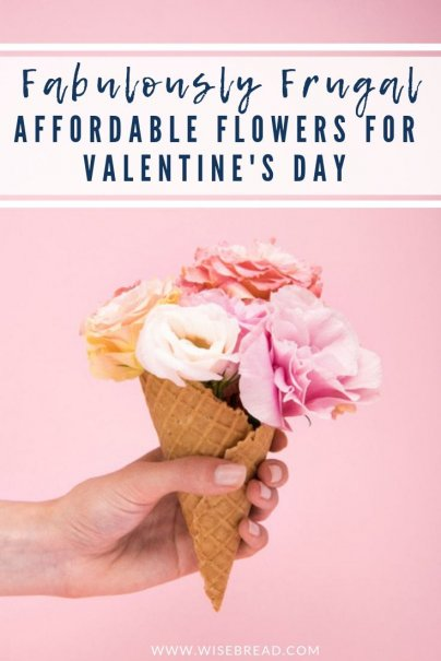 Wanting some unique and beautiful romantic flowers to give your special someone on valentines day, on a budget? We've got the frugal ideas to make them affordable, from choosing underrated flowers, seeking out unique vases, to creating your own bouquet arrangements. Become your own florist with our tips! | #valentinesday #valentinesdayflowers #flowerarrangements