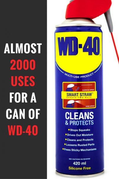 Almost 2000 uses for a can of WD-40