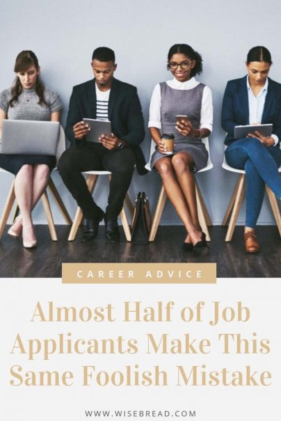 Looking to apply for a new job? Theres a big mistake that almost 50% of applicants make. We've got the tips to help you not make this big mistake in your job search. | #jobapplication #careertips #careeradvice