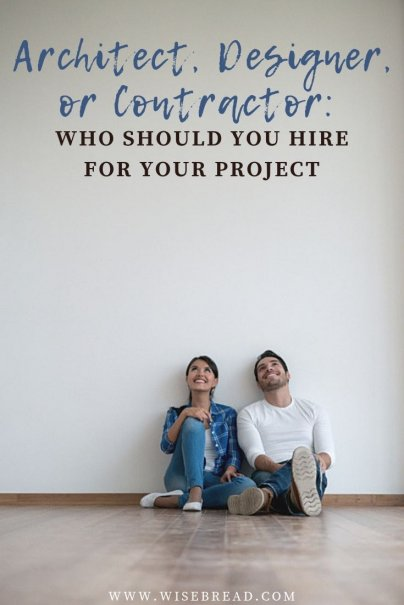 Should you spend money on a designer or architect to plan your home renovations? Or should you just hire a contractor and tell them where you want the toilet, sink, and shower? We've got costs, qualifications, and skills of each so you can decide where your money goes in your house design! | #homerenovations #homerepair #homedesign