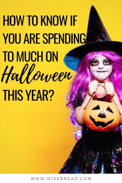 Halloween can be expensive, there's candy, costumes and festivities alone. Tack on decorations, greeting cards, and pet costumes to the list. Here's how to know whether you are spending too much on halloween this year. | #halloween #frugalliving #savemoney