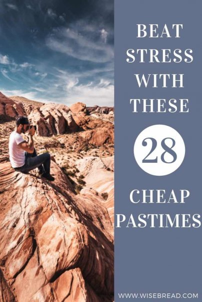 Need some cheap activities that will make you fee stress free? These 28 activities can help your relieve stress and be fun! Check out our tips and try a new hobby! | #selfcare #stressfree