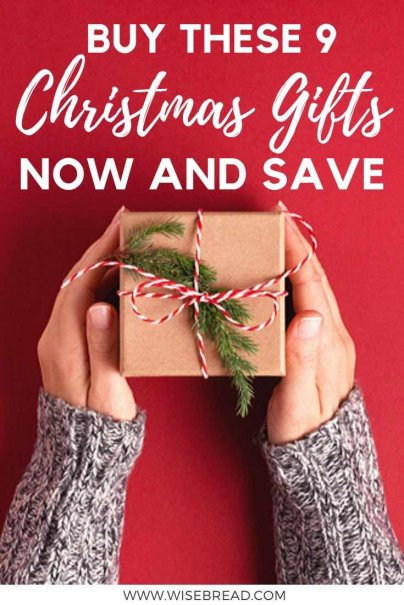 Saving money when shopping for Christmas gifts is often about timing. Timing your purchases so you can buy when the price is the lowest, and not be stuck buying when demand, and thus the price tag, is at its peak.  Here's how you can plan ahead to save money. | #moneysaving #christmasshopping #frugalliving