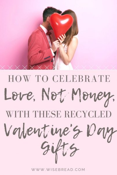 Want some cheap DIY valentines gifts for your boyfriend, or partner? We've got some creative ideas, like a vintage or antique craft project, date night basket, vintage stemware and more. For tips and ideas to save money, try these recycled presents for valentines day. | #valentinesday #valentinesdaygifts #recycledgifts