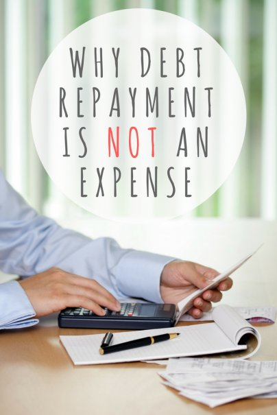 Debt repayment is not an expense