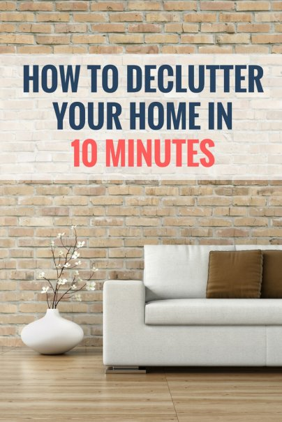 Declutter Your Home in 10 Minutes