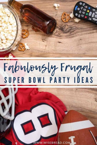 Want some cheap and frugal food ideas for your super bowl sunday party? We've got the budget friendly, easy appetisers and meals that can fead big, from potlucks, to the super stew, we will help you celebrate this day without hurting your wallet! | #frugalparty #superbowl #superbowlfood