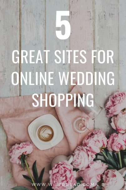 Did you know that you can save money by shopping online for your wedding? From bridal gown veils, to invitations, silverware and more, these are the best online shops to do you wedding shopping with ease! | #onlinewedding #weddinghacks #weddingplanning