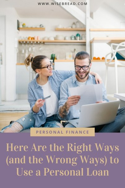 Thinking of applying for a personal loan get your finance ahead, and payoff your debt? These are the best money tips for how exactly you should and shouldn't use a personal loan! | #moneymatters #personalloan #moneytips