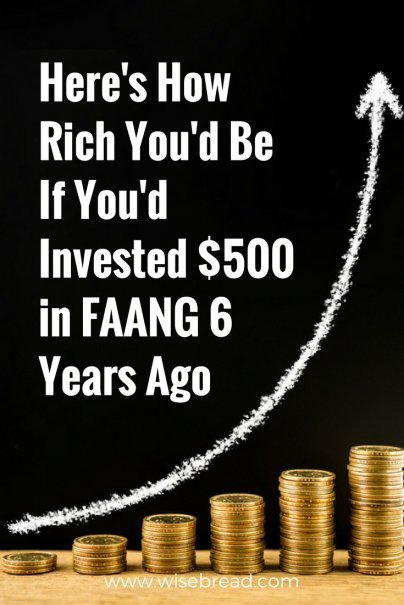 Here's How Rich You'd Be If You'd Invested $500 in FAANG 6 Years Ago