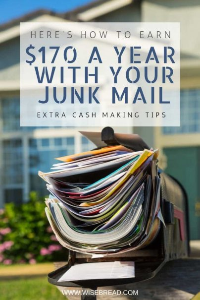 Here's How to Earn $170 a Year With Your Junk Mail